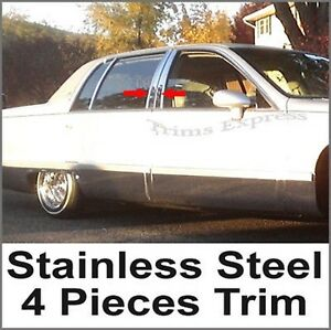 1993-1996 Cadillac Fleetwood 4Pc Stainless Steel Chrome Pillar Post
