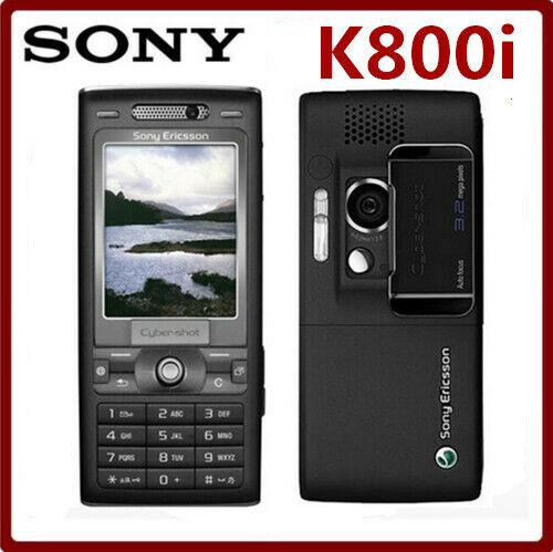 Sony Ericsson K800i K800 BLACK Unlocked 3G GSM Tri-Band 3.2M