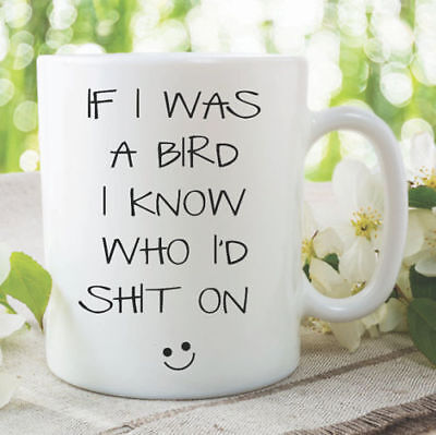 Novelty Funny Joke Coffee Mug Bird Cup Gift Bird Lover Banter Witty WSDMUG1059