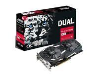 3 X Brand new Asus Dual Radeon RX580, 8GB graphics card