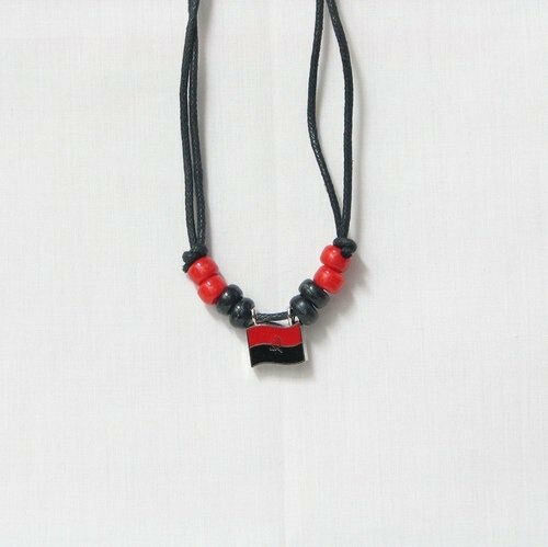 ANGOLA COUNTRY FLAG SMALL METAL NECKLACE CHOKER .. NEW