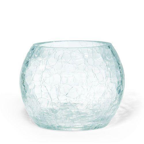 Crackle Glass Bowl Ebay