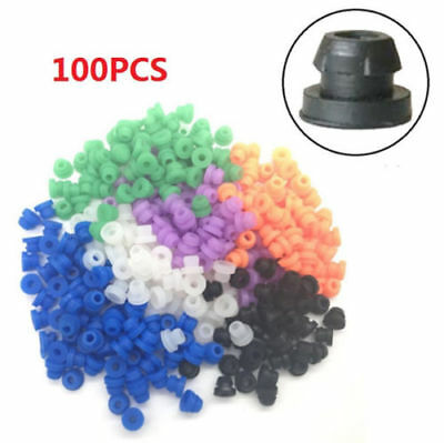 Half Top Hat (100PCS Multi Color Silicon Half Nipples Top Hat Tattoo Needle Machine Grommets)