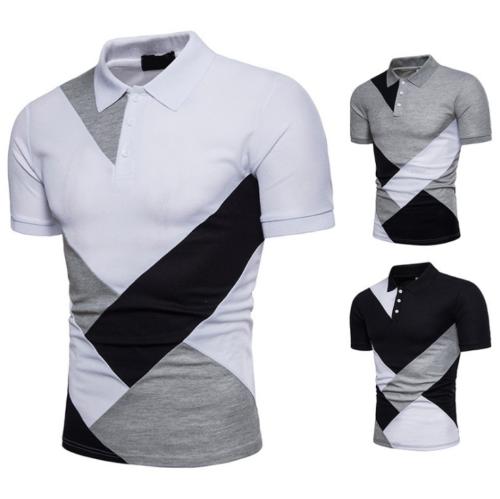 Fashion Men Slim Fit POLO Shirts Short Sleeve Casual Plain T