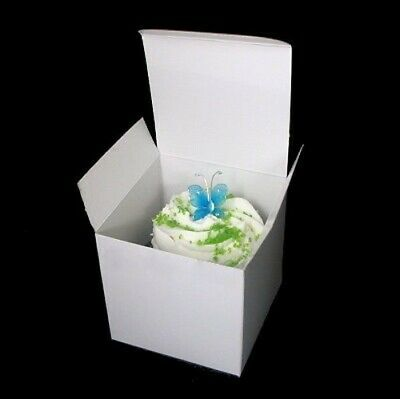 Cupcake Cookie Candy Wedding Favor Treat Gift Box 3x3x3