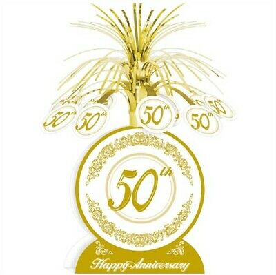 50th Anniversary Centerpiece Gold Anniversary Party Supplies Decoration](50th Centerpieces)