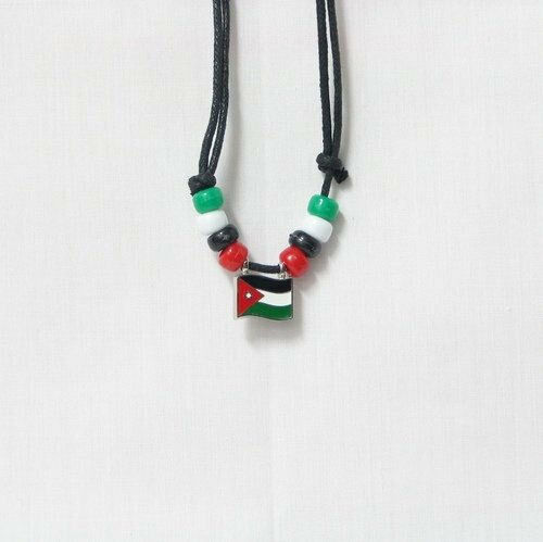 JORDAN  COUNTRY FLAG SMALL METAL NECKLACE CHOKER .. NEW