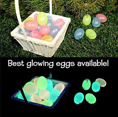 Glow in the Dark Easter Eggs (12) - Christian/ Religious Easter Egg Hunt - Glow In The Dark Egg Hunt
