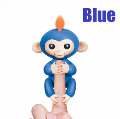 Electronic Interactive Fingerling Happy Monkey Motion Pet Hot Toy - Blue