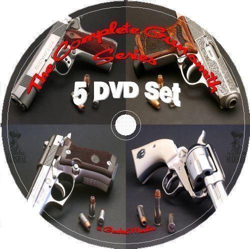Gunsmithing Reloading Manuals Complete Series 5 DVD gunsmith gun pistol NRA