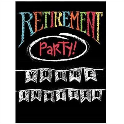 - Retirement Chalk Invitations Invites Happy Retirement Party Decorations