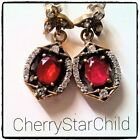 Earrings Ruby Sterling Silver Vintage & Antique Jewellery