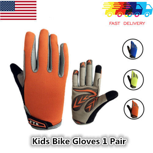 Kids Bike Gloves Girl Children Full Long Finger MTB BMX Grip