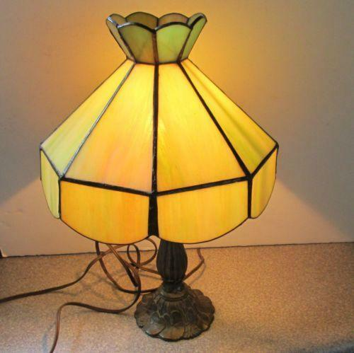Vintage Slag Glass Lamp Ebay