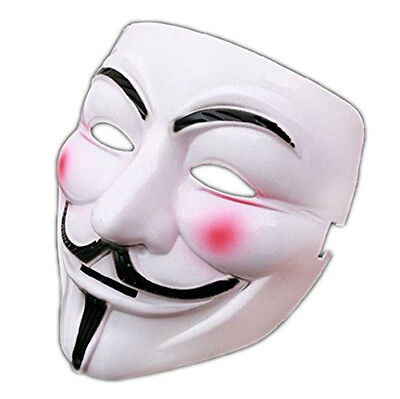 V For Vendetta Mask Guy Fawkes Anonymous Halloween Masks Fancy Cosplay New US