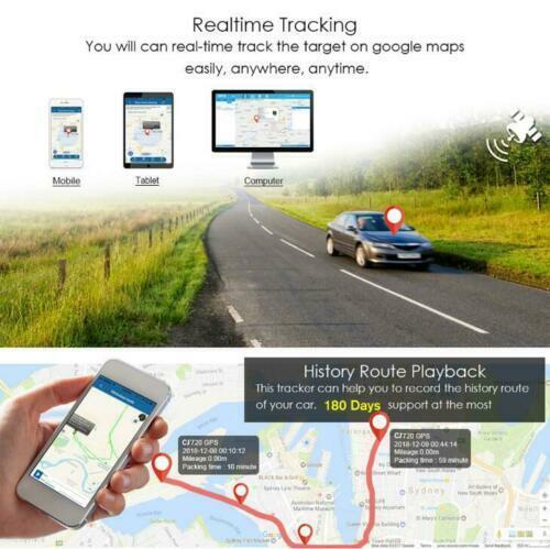 GPS Car Tracker Real Time Device Locator Remote Control Antitheft Hidden 1040V