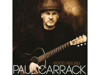 2 PAUL CARRACK CONCERT TICKETS - PERTH CONCERT HALL FRIDAY 26TH JANUARY