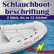 Schlauchboot Kennzeichen