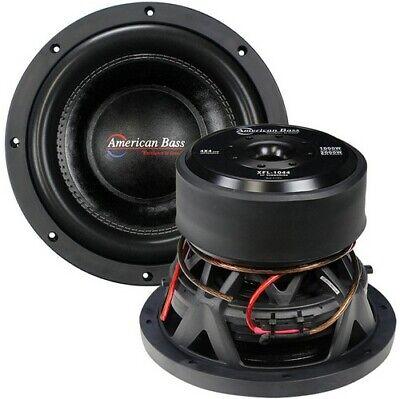 "American Bass XFL1044 10"" Woofer 2000W Max 4 Ohm DVC"