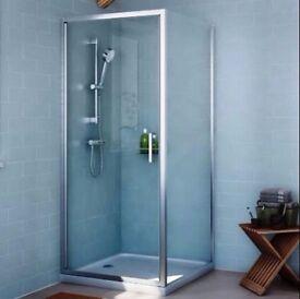 Cooke & Lewis Exuberance 800mm Square Shower Enclosure with Hinged Door bargain
