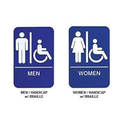 Men Women Restroom Sign
