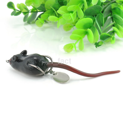 Soft Rubber Mouse Fishing Lures Baits Top Water Tackle Hooks Bass Interesting CA
