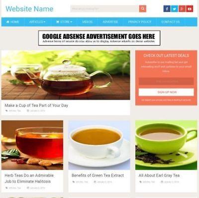 Tea Store - Established Online Business Website For Sale Mobile Friendly