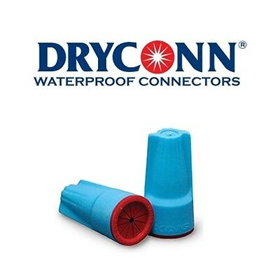 DryConn 62250 500 Pack Aqua/Red Waterproof Connector Silicone King Innovation