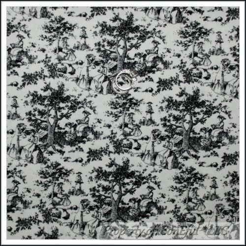 Black And White Toile Fabric Ebay