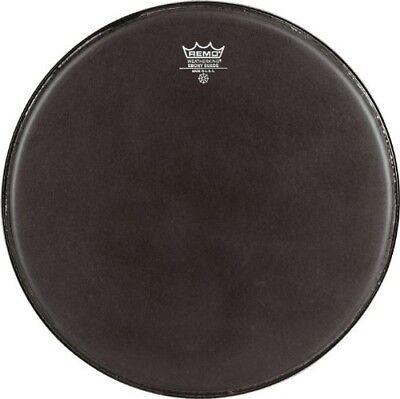 Remo ES0812MP Black Suede Emperor Crimplock Marching Tenor Drum Head, 12-Inch Black Marching Tenor Drum Head