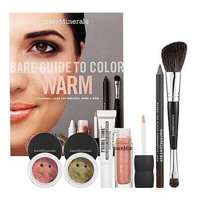 bareMinerals Bare Guide To Color Primer Eyecolor Mascara Lip Gloss Brush - Warm