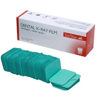 100 Pcsbox Dental X-ray Film Size 3cm X 4cm For Reader Scanner Machine Yes Star
