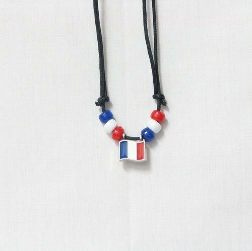 FRANCE COUNTRY FLAG SMALL METAL NECKLACE CHOKER .. NEW