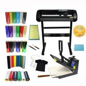 "24"" Cutting Plotter & 15x15 Heat Press & Vinyls KIT #004967"