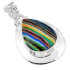 Rainbow Calsilica Fine Necklaces & Pendants Holiday