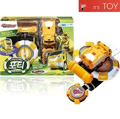 Power Battle Watch Car Porty Coin-Battle Maru Yellow Watchcar Korean Young Toys