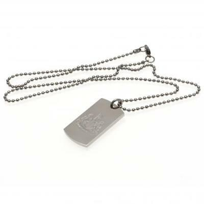Newcastle United FC Engraved Crest Dog Tag Chain Football Club Birthday PRESENT