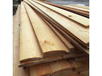 £1 per metre T+G LOGLAP *A* Grade Timber Cladding Scandinavian redwood boarding