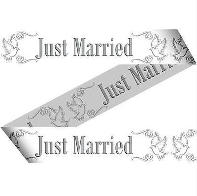 15 METER ABSPERRBAND JUST MARRIED HOCHZEIT DEKO PARTY GIRLANDE BANNER