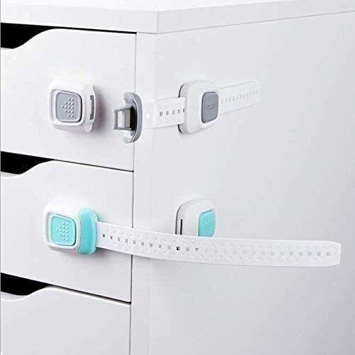 Child Safety Lock Flexible Adjustable ABS Indoor Drawer Cabinet Fridge green Baby