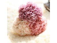 5 Head Artificial False Peony Fabric Silk Flower Bouquet Home Garden PARTY Decor