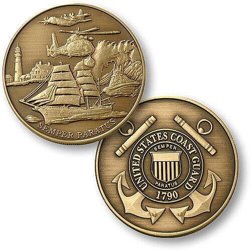 UNITED STATES Coast Guard Bronze Antique Commemorative Coins - USCG