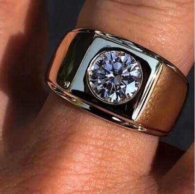 Engagement Ring 14K White Gold Over Certified 2.5 Ct Diamond Bezel Setting