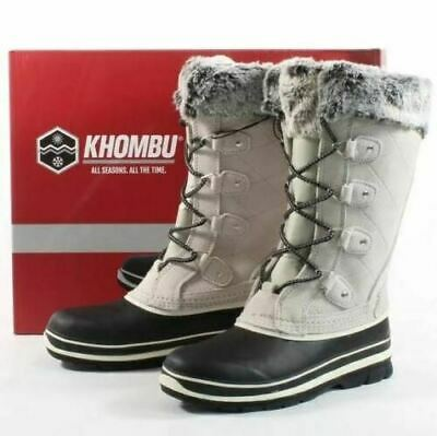 Khombu Women's Emily Suede Leather Faux Fur Winter Snow Boots UK SIZE 6 / US 8