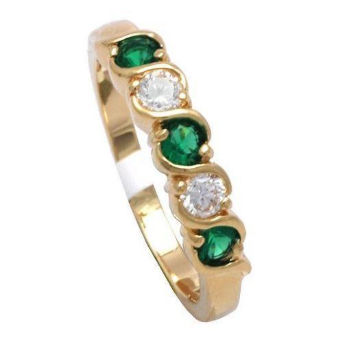 emerald eternity ring ebay