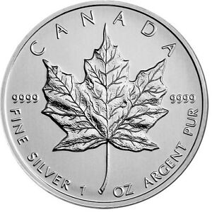 WANTED: CANADIAN MAPLE LEAF SILVER 1 OZ coins