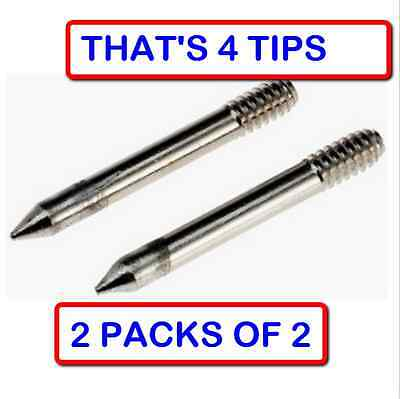 2 Packs Of 2 Weller Mt1 Shape Soldering Iron Tip For Models Sp23 Sp25 Irons