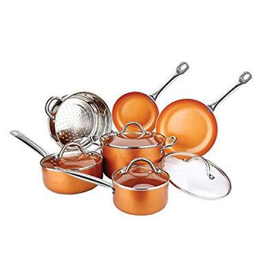 Copper Luxury 10 Piece Non-Stick Cookware Set 8103
