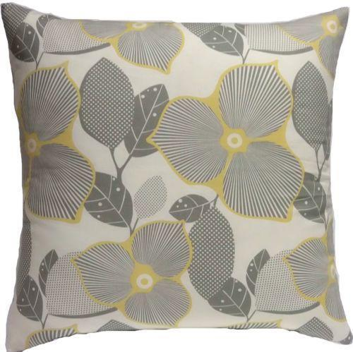 Yellow Gray Throw Pillows Ebay