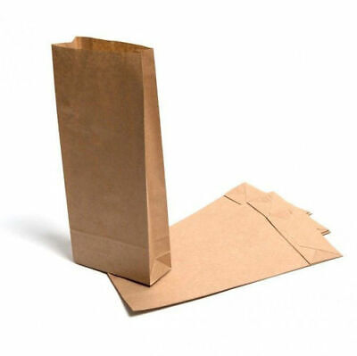 5lb Block Bottom Recyclable Brown Paper Kraft Bags - Pack of 250